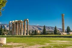 Tempel des olympischen Zeus, Athen stockfotos
