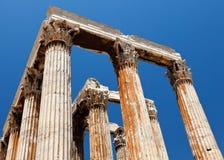 Tempel des olympischen Zeus, Athen stockbild