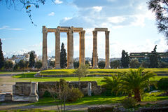 Tempel des olympischen Zeus in Athen Lizenzfreie Stockbilder