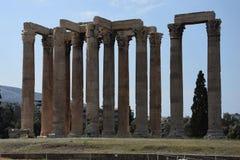Tempel des olympischen Zeus in Athen Stockfotografie