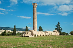 Tempel des olympischen Zeus in Athen, Griechenland Lizenzfreie Stockfotografie