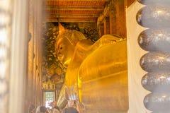 Tempel des stützenden Buddhas Stockfotos