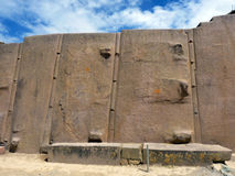 Tempel des Sun Ollantaytambo Peru Lizenzfreies Stockfoto