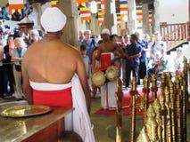 Tempel des Zahnes in Kandy/in Sri Lanka Stockfotografie