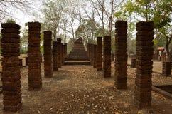Tempel die slechts pijlers verliet Stock Afbeeldingen