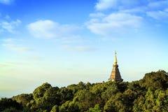 Tempel an doi inthanon Berg, Chiang Mai, Thailand Lizenzfreie Stockfotografie