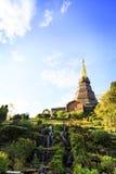 Tempel an doi inthanon Berg, Chiang Mai, Thailand Stockbild