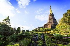 Tempel an doi inthanon Berg, Chiang Mai, Thailand Lizenzfreie Stockfotos