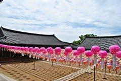 Tempel Donghwasa Arkivbilder