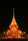 Tempel efter solnedgång Royaltyfri Fotografi