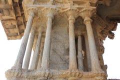 Tempel einer Hampi Vittala der musikalischen Säule, die verschiedene Töne gibt, während sie geklopft wird Lizenzfreie Stockfotos