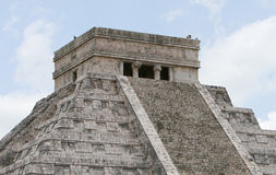 Tempel EL-Castillo stockfotografie