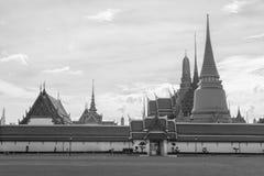 Tempel Emerald Buddha Monochromes Stockfoto