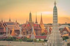 Tempel Emerald Buddhas oder des Wat Phra Kaews, großartiger Palast, Bangkok, Thailand Lizenzfreies Stockbild