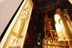 Tempel en binnenlands ontwerp in Thailand Stock Foto