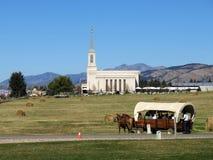 Tempel en Wagen royalty-vrije stock fotografie