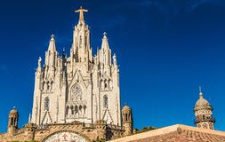 Tempel Expiatori del Sagrat Cor Barcelona Spain Europe royaltyfria bilder
