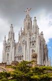 Tempel Expiatori del Sagrat Cor   i Barcelona royaltyfria bilder