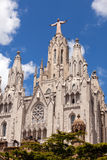 Tempel Expiatori del Sagrat Cor i Barcelona, Spanien royaltyfria foton