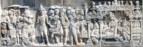 tempel för 02 borobudurserie Arkivbilder
