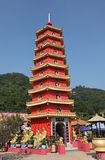 tempel för 10000 buddhas Arkivbild