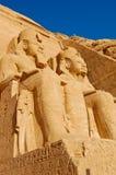 tempel för abuegypt stort simbel Arkivbild