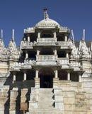 tempel för adinathindia jain ranakpur Arkivbild