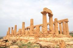 tempel för agrigento dicultitaly juno arkivbilder