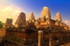 tempel för angkorpreahrup arkivbild