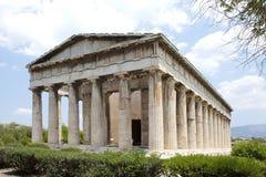 tempel för athens grecehephaestus Arkivfoto