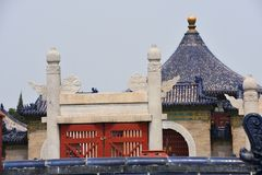tempel för beijing porslinhimmel arkivbilder