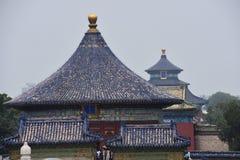 tempel för beijing porslinhimmel arkivbild
