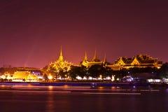 tempel för buddha smaragdlampa Arkivbild