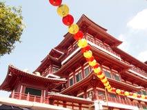 Tempel för Buddha tandrelik i den Kina townen Singapore Royaltyfri Bild