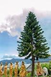 tempel för 10000 buddhas Royaltyfria Bilder