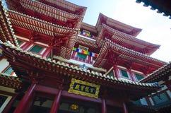Tempel för Buddhatandrelik i den Kina staden, Singapore Royaltyfria Bilder
