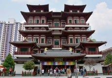 Tempel för Buddhatandrelik och museum, Singapore Royaltyfri Fotografi