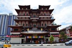 Tempel för Buddhatandrelik och museum, Singapore Arkivfoto