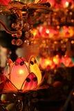 tempel för budishstearinljuslotusblomma Royaltyfri Bild