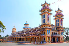 tempel för cao dai Arkivbilder