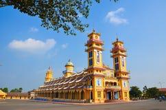 tempel för cao dai royaltyfri foto