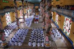 tempel för cao dai Royaltyfria Foton