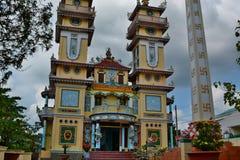 tempel för cao dai Cai Be vietnam Royaltyfri Fotografi