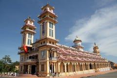 Tempel för Cao Dai i Vietnam Fotografering för Bildbyråer