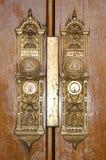 tempel för dörrlockdetailfyrkant Royaltyfri Foto