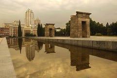 tempel för de debod espaplaza Royaltyfri Bild