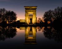 Tempel för Debod ` s i Madrid royaltyfria foton