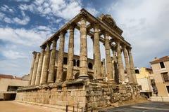 Tempel för Diana ` s, roman arv i Merida Arkivbilder