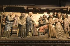 tempel för dopchrist presentation Royaltyfri Foto