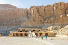 tempel för egypt hatshepsutluxor minnesmärke egypt luxor Fotografering för Bildbyråer